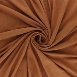 Tissu sweat léger Modal uni - marron x 10cm