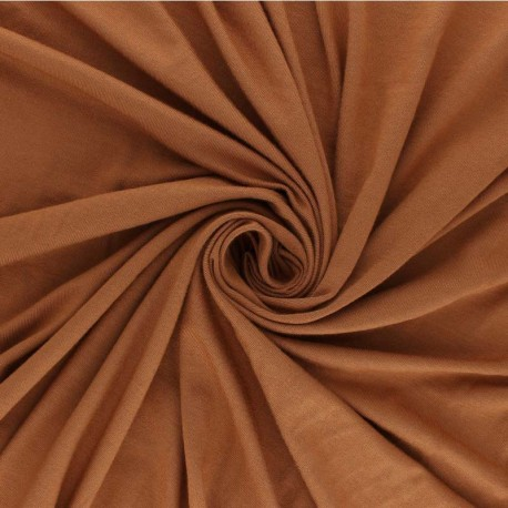 Plain Modal French Terry Fabric - brown x 10cm
