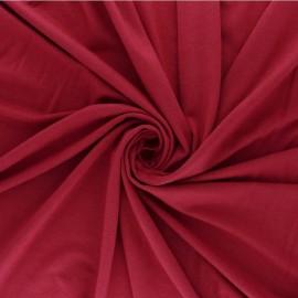 Tissu sweat léger Modal uni - rouge carmin x 10cm