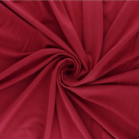 Plain Modal French Terry Fabric - carmin red x 10cm