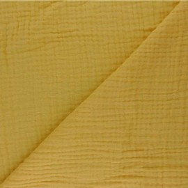 Plain Triple gauze fabric - mustard yellow Sorbet x 10cm