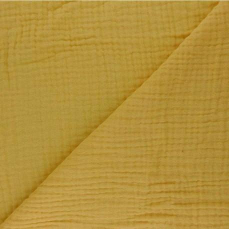 Plain Triple gauze fabric - mustard yellow Sorbet x 10cm
