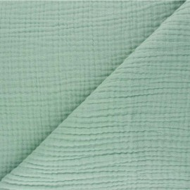 Plain Triple gauze fabric - sage green Sorbet x 10cm
