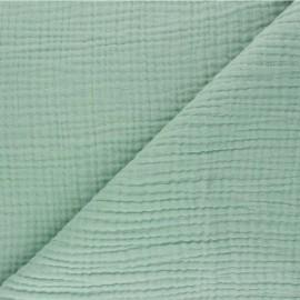 Tissu triple gaze de coton uni Sorbet - vert sauge x 10cm
