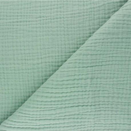 Plain Triple gauze fabric - sage green Sorbet x 10cm