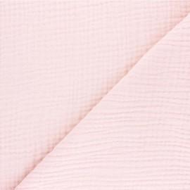 Tissu triple gaze de coton uni Sorbet - baby rose x 10cm