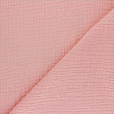 Plain Triple gauze fabric - rose Sorbet x 10cm