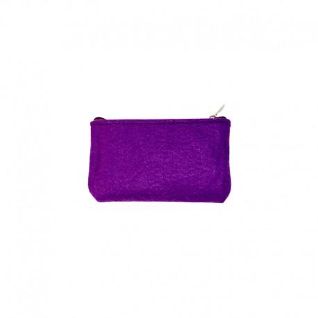 Felt Wallet to Customize - Purple