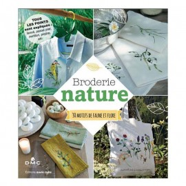 """Book """"Broderie nature - 30 motifs de faune et de flore"""""""