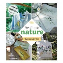 """Livre """"Broderie nature - 30 motifs de faune et de flore"""""""