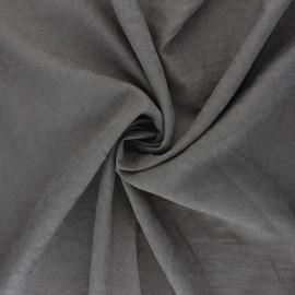 Tissu Doublure aspect suédine Alphée - gris acier x 10cm