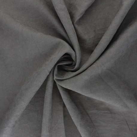 Suede-like lining fabric - steel grey Alphée x 10cm