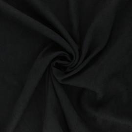Tissu Doublure aspect suédine Alphée - noir x 10cm