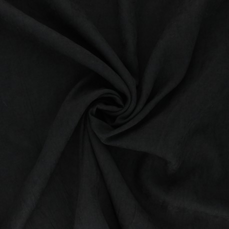 Suede-like lining fabric - black Alphée x 10cm