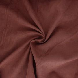 Tissu Doublure aspect suédine Alphée - rouille x 10cm