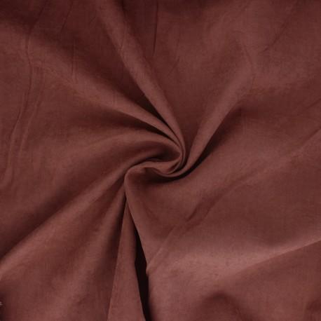 Suede-like lining fabric - rust red Alphée x 10cm