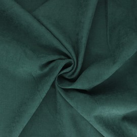 Tissu Doublure aspect suédine Alphée - vert sapin x 10cm