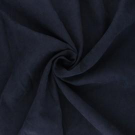 Tissu Doublure aspect suédine Alphée - bleu x 10cm