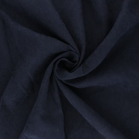 Suede-like lining fabric - blue Alphée x 10cm