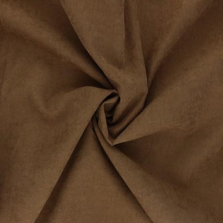Suede-like lining fabric - ochre Alphée x 10cm