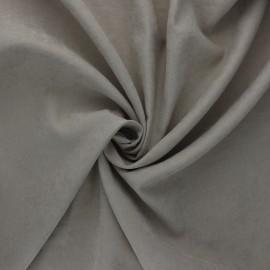 Tissu Doublure aspect suédine Alphée - taupe x 10cm