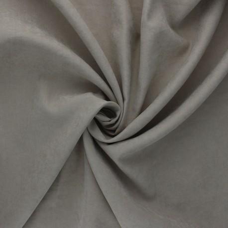 Suede-like lining fabric - taupe Alphée x 10cm