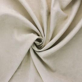 Tissu Doublure aspect suédine Alphée - grège x 10cm
