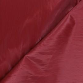 Tissu vinyl froissé brillant Nalina - rouge x 10cm