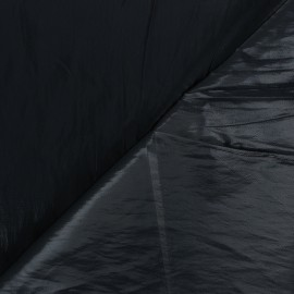 Shiny crinkle vinyl fabric  - black Nalina x 10cm