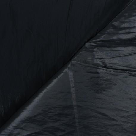 Tissu vinyl froissé brillant Nalina - noir x 10cm
