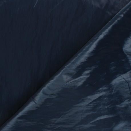 Shiny crinkle vinyl fabric  - petrol blue Nalina x 10cm