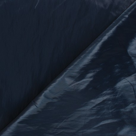 Tissu vinyl froissé brillant Nalina - bleu pétrole x 10cm