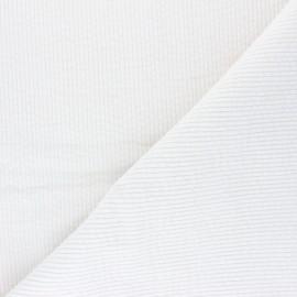 Tissu velours côtelé washé Cardiff - ivoire x 10cm