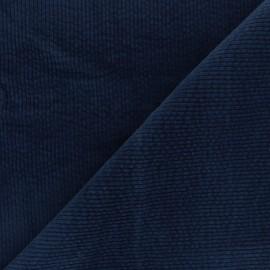 Tissu velours côtelé washé Cardiff - bleu marine x 10cm