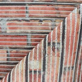 Non-slip PVC mat - red Briquettes x 10cm