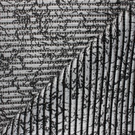 Non-slip PVC mat - silver/black Crackling x 10cm