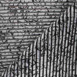Tapis mousse PVC anti-dérapant Crackling - argent/noir x 10cm