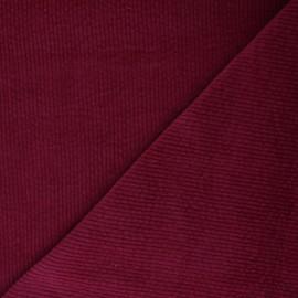 Tissu velours côtelé washé Cardiff - rouge x 10cm