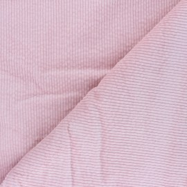 Washed-out ribbed velvet fabric - baby pink Cardiff x 10cm