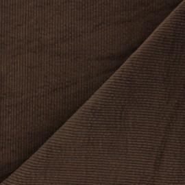 Tissu velours côtelé washé Cardiff - marron x 10cm