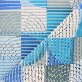 Non-slip PVC mat - blue Psyche x 10cm