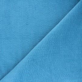 Tissu velours côtelé washé Cardiff - bleu céleste x 10cm