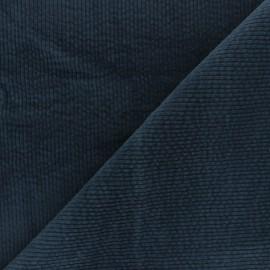 Tissu velours côtelé washé Cardiff - bleu denim x 10cm
