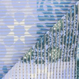 Non-slip PVC mat - blue Patchwork x 10cm