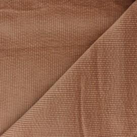 Tissu velours côtelé washé Cardiff - camel x 10cm