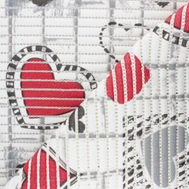 Tapis mousse PVC anti-dérapant Coeur - blanc x 10cm