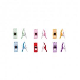 Set of 60 wonder clips Prodiges - transparent multicolor