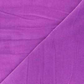 Tissu velours côtelé washé Infinité - orchidée x 10cm