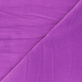 Washed-out ribbed velvet fabric - orchid Infinité x 10cm