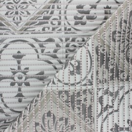 Non-slip PVC mat - grey Tiles x 10cm